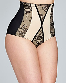 Contrast High Waist Firm Control Brief