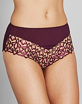 Ornamental Embroidered Grape Full Briefs