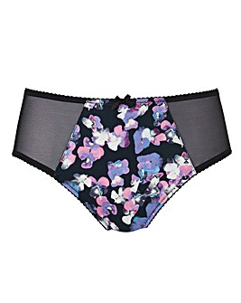 Purple Floral Maxine Mid Rise Briefs