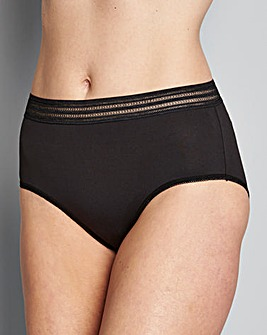 10 Pack Black Midi Briefs