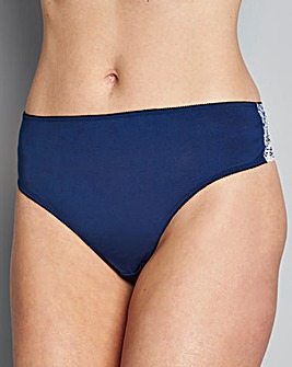 3 Pack Lace Blue Print Brazilian Briefs