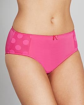 2 Pack Mesh Pink Spot Midi Briefs