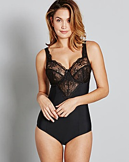 Ella Lace Light Control Black Bodyshaper