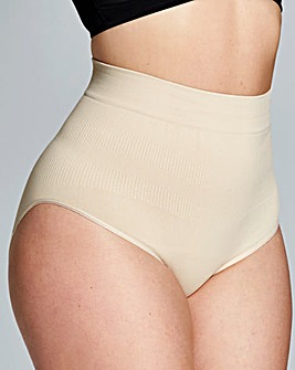 Hi Waist Medium Control Natural Briefs