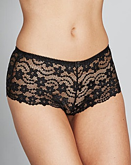 Black Daisy Lace Short