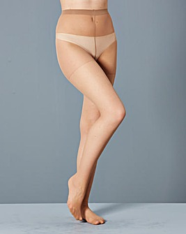 5 Pack 15 Denier Gusset Free Nat Tights