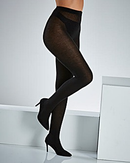 2 Pack Black Supersoft Woolly Tights