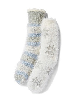 2 Pack Snowflake Fleece Lined Socks