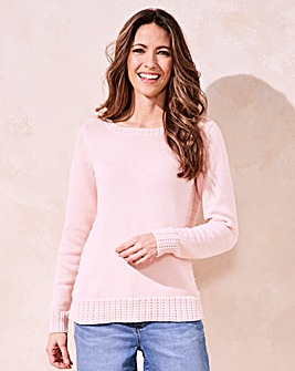 Cotton Boat Neck Jumper