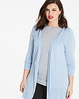 Linen Mix Waterfall Cardigan