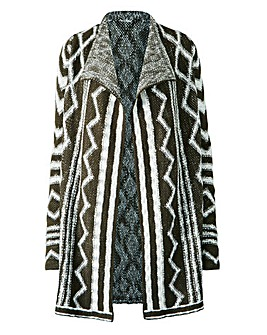 Graphic Waterfall Cardigan