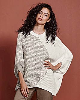 Patchwork Oversized Jumper