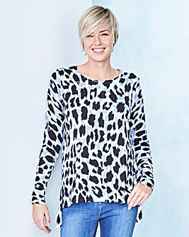 Printed Boxy Jumper