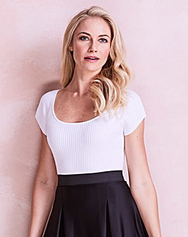 Bardot Rib Top