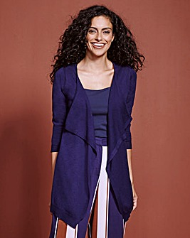 Wool Mix Waterfall Cardigan