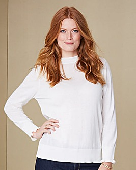 Ruffle-Neck Jumper