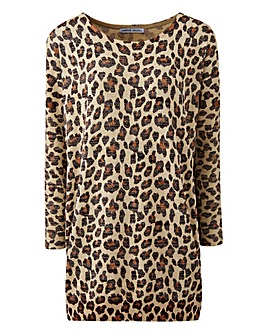 Metallic Animal Print Jumper