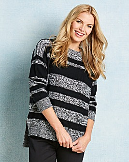 Stripe Jumper with Side Zips