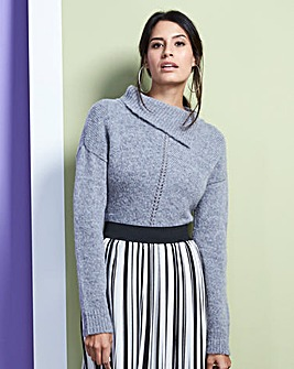 Wool Mix Roll Neck Jumper