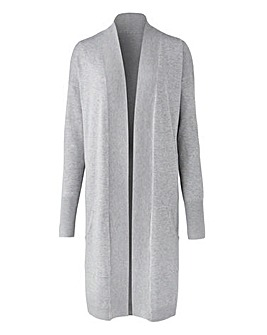 Grey Marl Kangaroo Pocket Cardigan