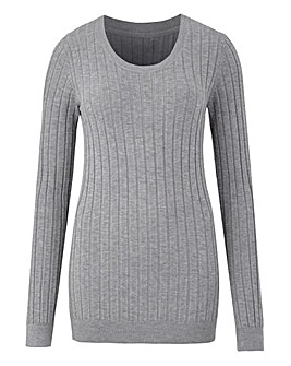 Rib Crew Neck Jumper