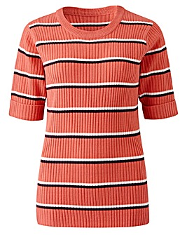 Stripe Rib Top