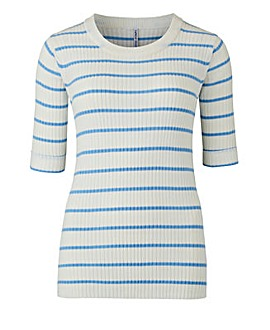 Stripe Rib Top