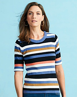 Multicolour Stripe Rib Top