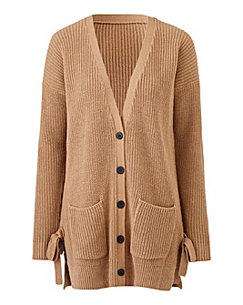 Fishermans Rib Tie Side Cardigan