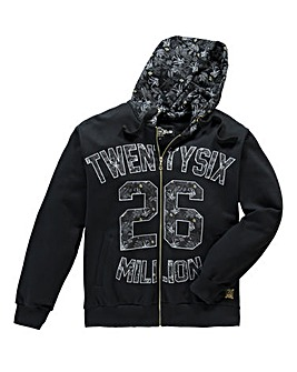 26 Million Pellow Black Zip-Up Hoodie