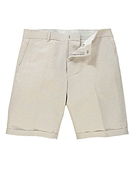 Black Label By Jacamo Linen-Mix Shorts