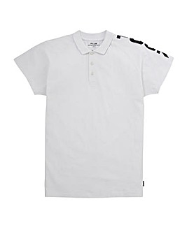 French Connection White Shoulder Polo