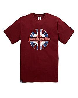 Lambretta Lucky Chip Burgundy T-Shirt Re