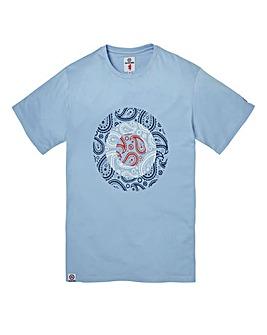 Lambretta Paisley Sky Target T-Shirt Reg