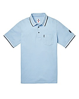 Lambretta Pocket Tip Sky Blue Polo Long