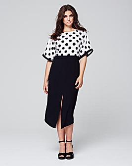 Lovedrobe Polka Dot Dress