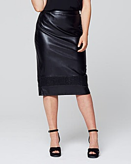 Lovedrobe Pu Pencil Skirt