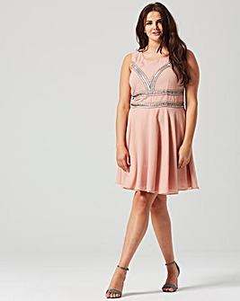 Lovedrobe Embellished Skater Dress