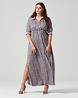 Lovedrobe Print Maxi Shirt Dress