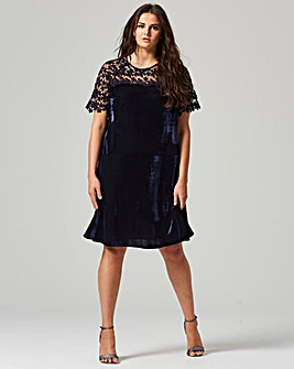 Lovedrobe Lace Velvet Swing Dress