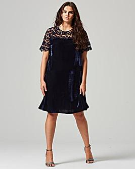 Lovedrobe Lace Velvet Swing Dress
