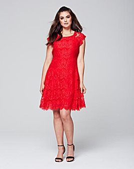 AX Paris Eyelash Lace Dress