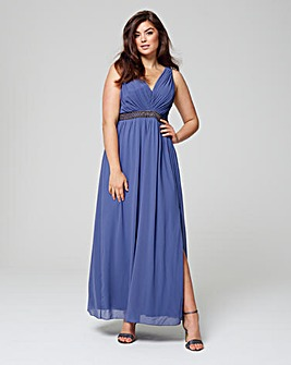 Little Mistress Chiffon Maxi with Trim