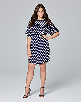 Closet Split Front Spot Dress