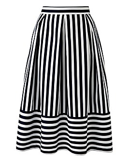 Closet Striped Prom Skirt