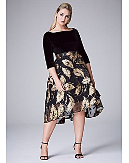 COAST MANEELA JACQUARD SKIRT DRESS