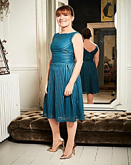 Lorraine Kelly Mesh Detail Prom Dress