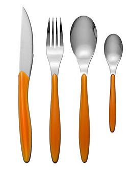Swan Oslo 24 Piece Cutlery Set Orange