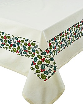 Christmas Holly Tablecloth