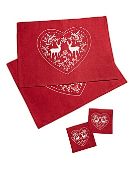 Cherish Pack of 2 Placemats & coaster